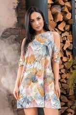 """Платье Remise Store V328 48 Белое принт """"цветы"""" (2000000444550_ELF) от Rozetka"""