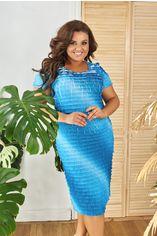 Платье ALDEM 1630 54 Белое/Голубое (2000000441795_ELF) от Rozetka