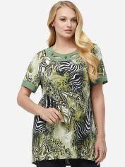 Блузка All Posa Марго 100122 60 Оливковая (Зебра) от Rozetka