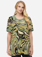 Блузка All Posa Марго 100123 58 Оливковая (Абстракция) от Rozetka