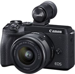 Фотоаппарат Canon EOS M6 Mark II + 15-45 IS STM + EVF Kit Black (3611C053) Официальная гарантия! от Rozetka