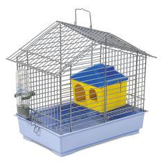 Акция на Клетка для грызунов Природа Джунгарик 32 x 29 x 22 см С Домиком Хром/светло-голубая (4823082415182) от Rozetka