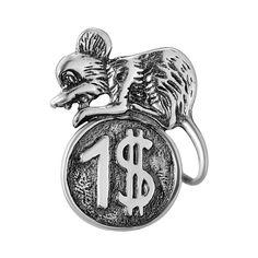 Серебряный талисман Мышонок на монете 000043217 000043217 от Zlato
