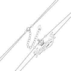 Серебряный браслет с подвеской-именем Наталья и цирконием 000131963 000131963 16 размера от Zlato