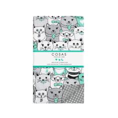 Акция на Детский пододеяльник Cosas Cats Dots 140q пододеяльник 110х140 см от Podushka