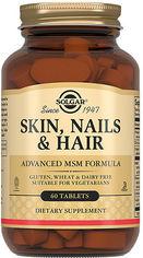 Solgar Skin, Nails & Hair, Advanced Msm Formula, 60 Tabs Витамины для волос, кожи, ногтей от Stylus