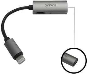 Акция на Wiwu Adapter LTO2 Lightning to 2xLightning 0.13m Gray (6957815505814) от Stylus