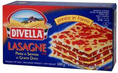 Лазанья Divella 109 Lasagne di Semola 500 г (DLR12138) от Stylus