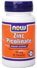 Акция на Now Foods Zinc Picolinate 50 mg 60 Vcaps Цинк пиколинат от Stylus