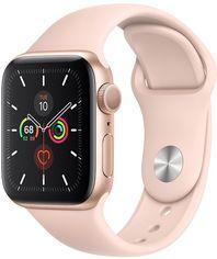 Смарт-часы Apple Watch Series 5 GPS 40mm Gold Aluminium Case with Pink Sand Sport Band (MWV72UL/A) от Rozetka