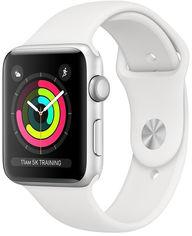 Смарт-часы Apple Watch Series 3 GPS 42mm Silver Aluminium Case with White Sport Band (MTF22FS/A) от Rozetka