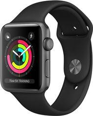 Смарт-часы Apple Watch Series 3 GPS 38mm Space Grey Aluminium Case with Black Sport Band (MTF02FS/A) от Rozetka