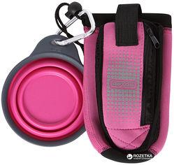 Акция на Сумка со складной миской для воды и аксессуаров для собак Dexas BottlePocket with Travel Cup Розовая (dx30809) от Rozetka