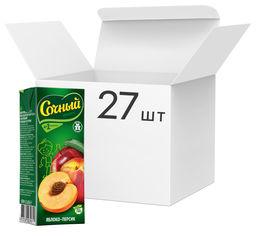 Акция на Упаковка нектара Сочный фрукт Яблоко-персик 0.2 л х 27 шт (4813538003971) от Rozetka