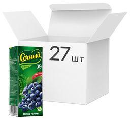 Упаковка нектара Сочный фрукт Яблоко-черника 0.2 л х 27 шт (4813538003964) от Rozetka
