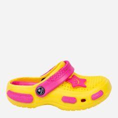 Акция на Кроксы Calypso 7362-004 28 Желтые с розовым (2114547436463) от Rozetka