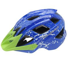 Muddyfox Spark Подростковый Шлем для Велосипедистов Голубой/Зеленый от SportsTerritory