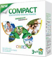 Стиральный порошок Green&Clean Professional Compact для цветной одежды 3 кг (4823069702533) от Rozetka
