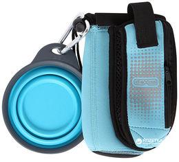 Сумка со складной миской для воды и аксессуаров Dexas BottlePocket with Travel Cup Голубая (dx30807) от Rozetka