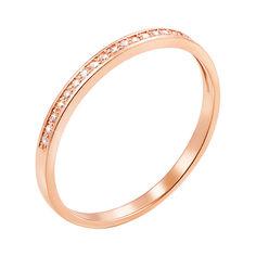 Акция на Кольцо из красного золота с бриллиантами 000103692 000103692 18.5 размера от Zlato