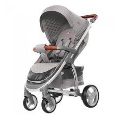 Прогулочная коляска Carrello Vista CRL-8505 Shark Grey Лен + дождевик от Stylus