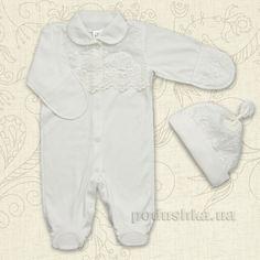 Комплект для малыша Сяйво Бетис интерлок 62 цвет молочный от Podushka