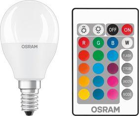 Лампа светодиодная OSRAM LED STAR Е14 5.5-40W 2700K+RGB 220V Р45 пульт ДУ от MOYO
