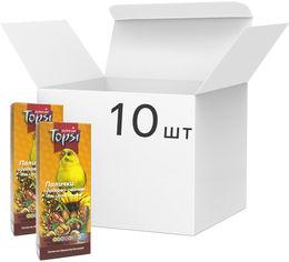 Акция на Упаковка корма палочки для волнистых попугаев Topsi Орехово-овощные 100 г 10 шт (14820122208299) от Rozetka