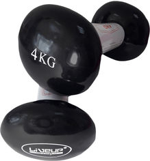 Гантели LiveUp Vinyl Dumbbell EGG HEAD 4 кг Черный (LS2001-4) от Rozetka