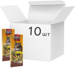 Акция на Упаковка корма для грызунов Topsi Ореховые палочки 100 г 10 шт (14820122208312) от Rozetka
