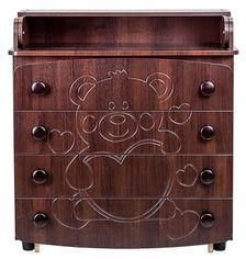 Комод-пеленатор Angelo Мишка с сердцем Темный орех (14003) от Rozetka