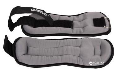 Утяжелители LiveUp Wrist/Ankle Weights 2 шт по 1 кг Black-Grey (LS3049-1) от Rozetka