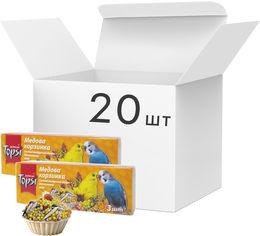 Акция на Упаковка лакомств для волнистых попугаев Topsi Медовая корзинка 45 г 20 шт (14820122208596) от Rozetka