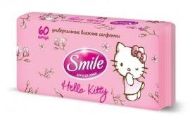 Влажные салфетки Smile Hello Kitty, 60 шт. от Pampik