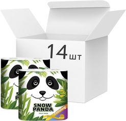 Упаковка туалетной бумаги Снежная Панда ЭкстраЛонг 186 отрывов 2 слоя 14 пачек по 4 рулона (4823019009422) от Rozetka