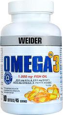Акция на Жирные кислоты Weider Omega-3 Fish Oil 1000 мг 60% 90 капсул (8414192311790) от Rozetka