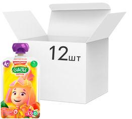 Упаковка детского пюре Фиксики Персик в пауче 90 г х 12 шт (4813163003360) от Rozetka