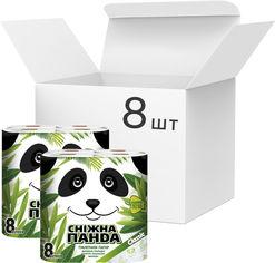Упаковка туалетной бумаги Снежная Панда Классик 150 отрывов 2 слоя 8 пачек по 8 рулонов (4823019007640) от Rozetka