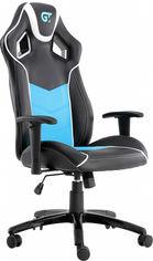 Кресло для геймеров GT RACER X-2560 Black/White/Light Blue от Rozetka