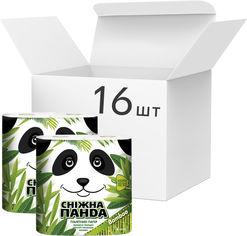 Упаковка туалетной бумаги Снежная панда Бамбук 150 отрывов 2 слоя 16 пачек по 4 рулона (4823019010640) от Rozetka