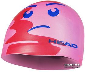 Акция на Шапочка для плавания HEAD Swimming Silicone Sketch Flow Pink (455180.PK.FACE) от Rozetka