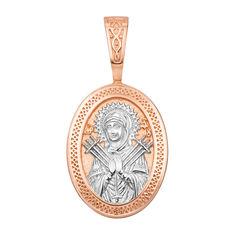 Серебряная ладанка Семистрельная Божья матерь с позолотой 000122739 000122739 от Zlato