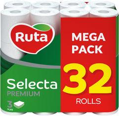 Туалетная бумага Ruta Selecta 32 рулона 3 шара белая (4820202892687) от Rozetka