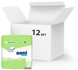 Упаковка одноразовых пеленок Seni Soft Basic 60х90 см 12 пачек по 10 шт (SE-091-B010-003) от Rozetka