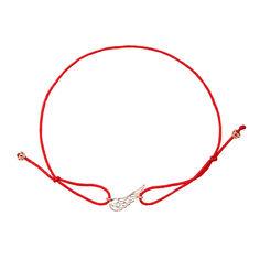 Браслет из красной шелковой нити и золота 000135624 000135624 б/р размера от Zlato