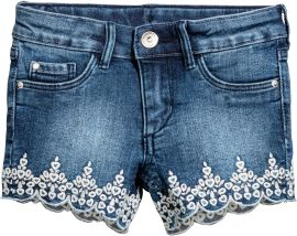 Акция на Шорты джинсовые H&M XAZ111093LDJZ 98 см Синие с белым (2000002169383) от Rozetka