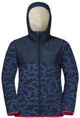 Зимняя куртка Jack Wolfskin Nordic Hooded Jacket Kids 1607532-7523 116 см Темно-синяя (4060477295893) от Rozetka