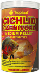 Корм Tropical Cichlid Carnivore Mediuml Pellet для аквариумных рыб в гранулах 1 л (5900469607664) от Rozetka