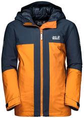 Зимняя куртка Jack Wolfskin Powder Mountain Jacket Boys 1608111-3115 140 см Оранжевая (4060477299518) от Rozetka