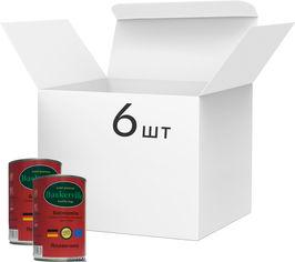 Упаковка влажного корма для собак Baskerville Говядина, 6 банок по 400 г (4250231598364-6) от Rozetka